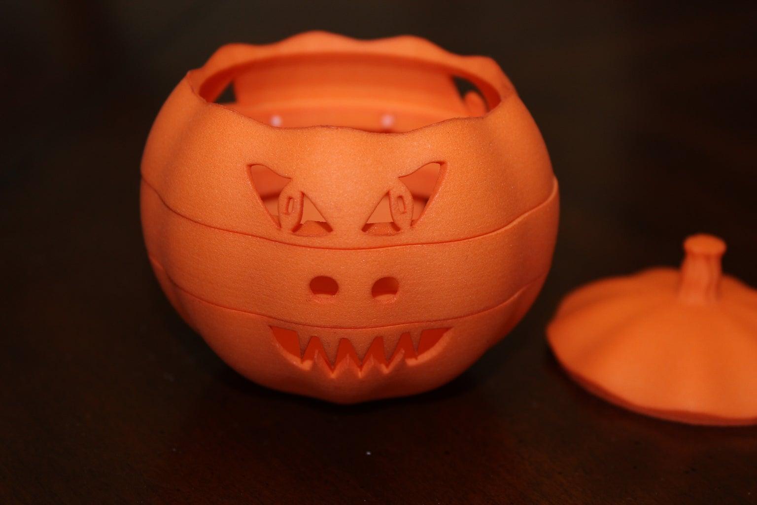 Adjustable Face Jack-O-Lantern