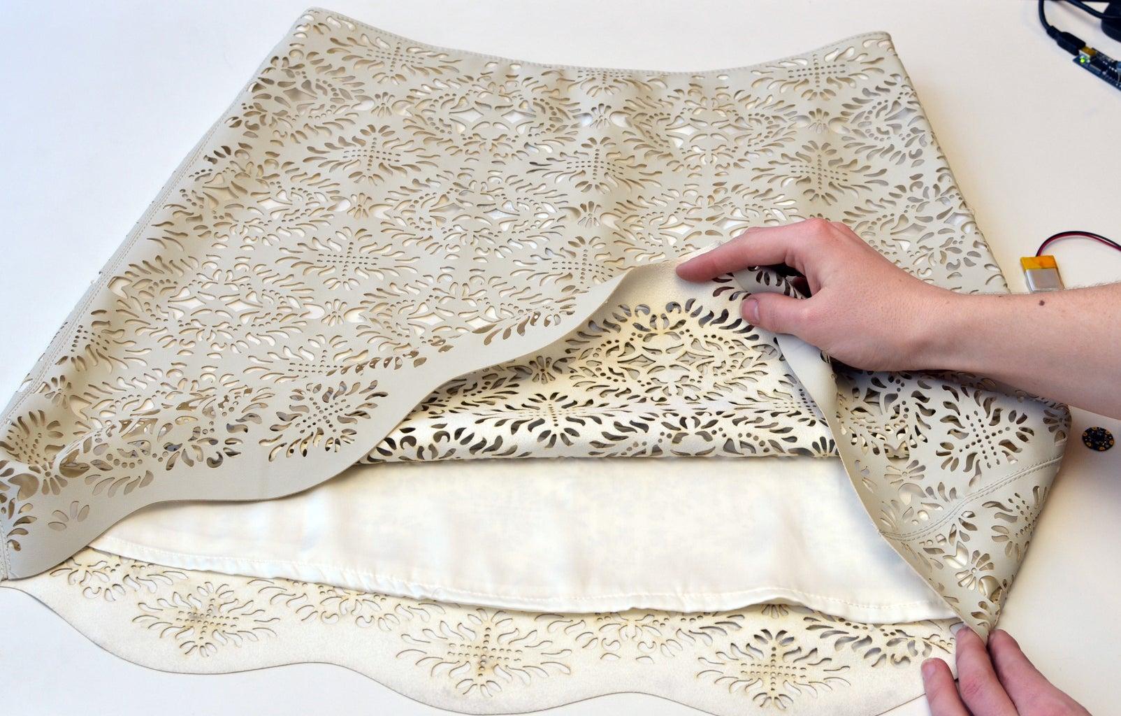 Backlit Laser-Cut Textile