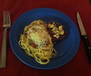 Steak Gorgonzola, Spaghetti Meat Sauce Made From Scratch