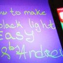 How to Make Black Light - UV Light - No Cost