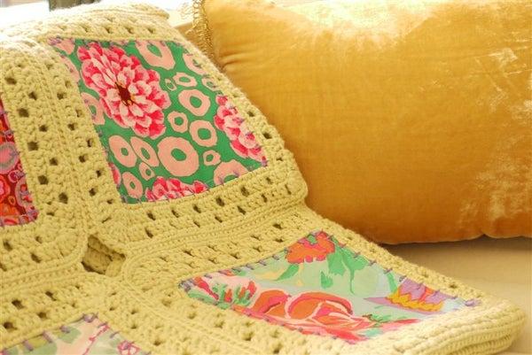Sewing Daisies Kaffe Fusion Blanket