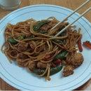 Amazing Spicy Chicken Lo Mein in Under 20 Minutes