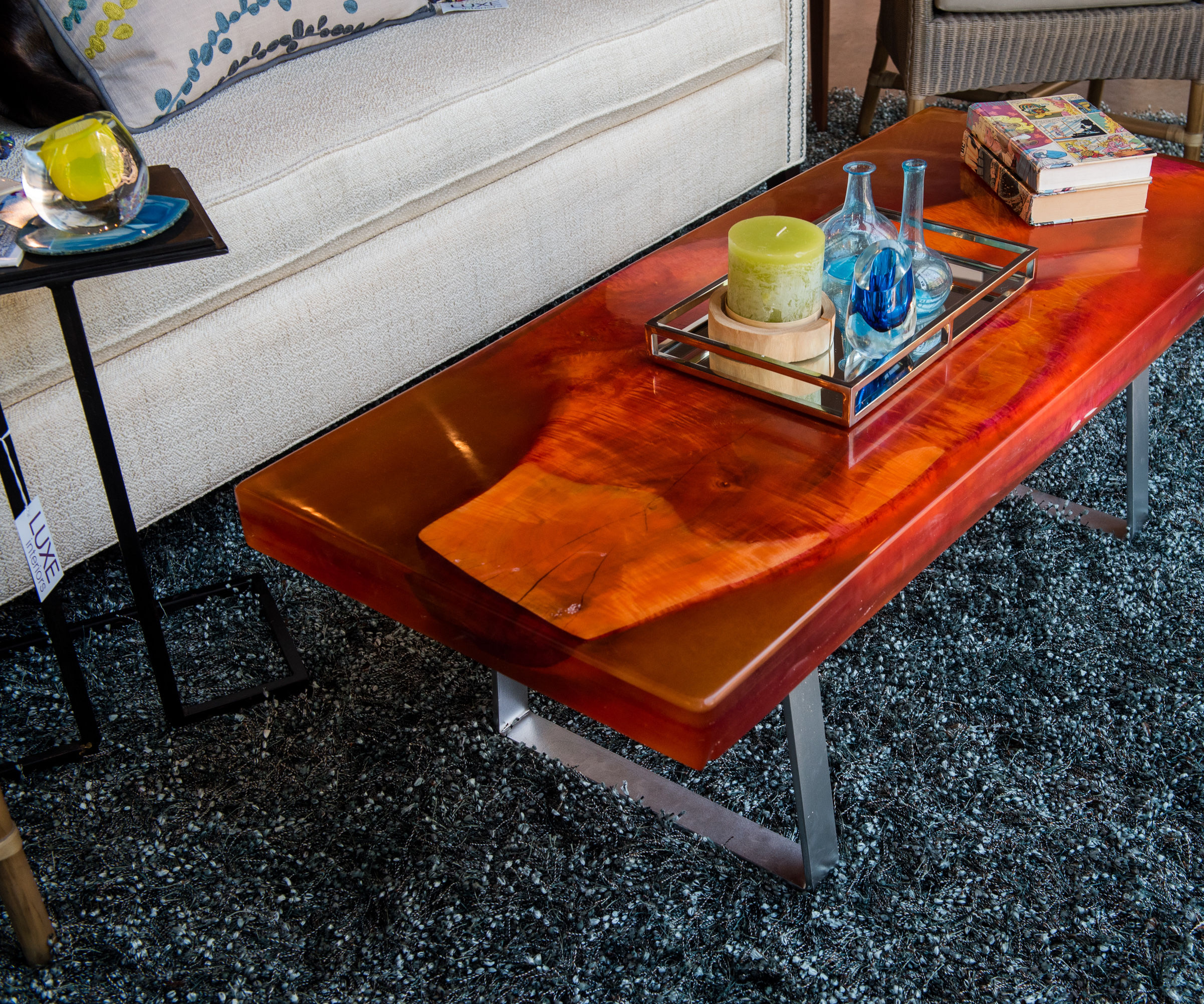 Wood and Resin Coffee Table