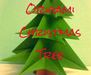 Origami Christmas Tree (Made From 1 A4 Sheet and Template)