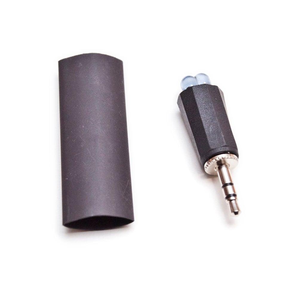 Re-Sleeve the Headphone Plug With Heat Shrink.