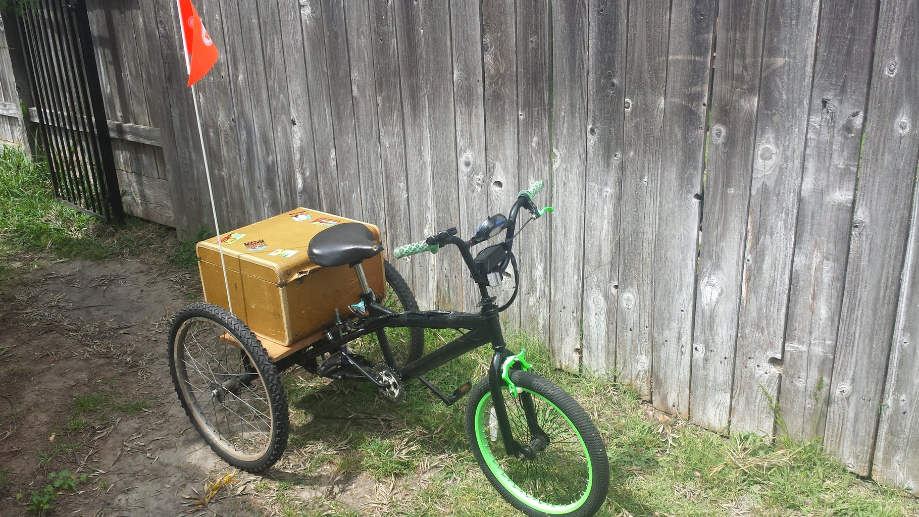 Electric Trike With Bmx Front End.
