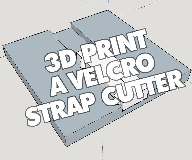 3D Printed Velcro Slicer!