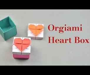 Easy Origami Heart Box With Lid