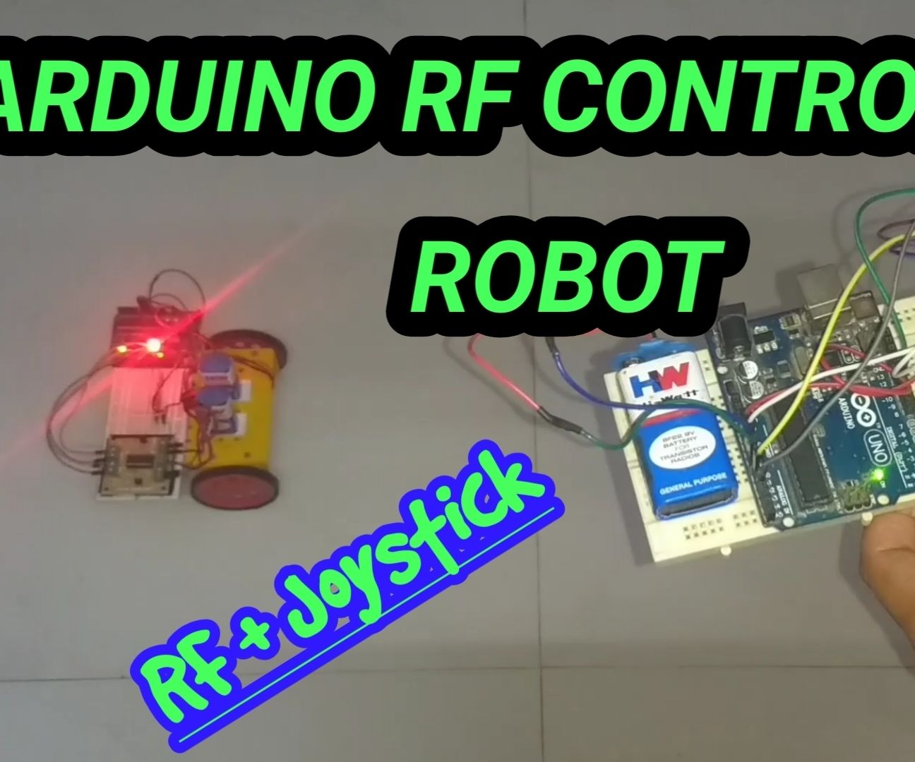 Arduino RF Controlled Robot