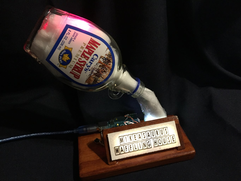 Neopixel Light Up Maple Syrup Bottle Lamp