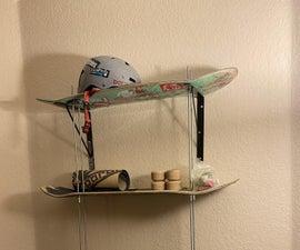 Recycled Skate Deck Shelf