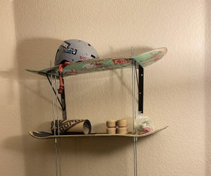 Recycled Skate Deck Shelf