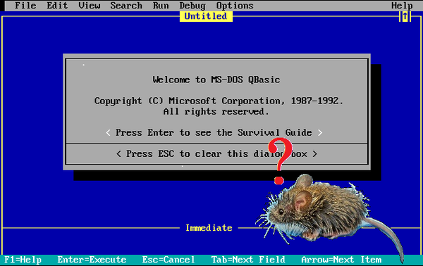 Using a Mouse in QBasic Programs
