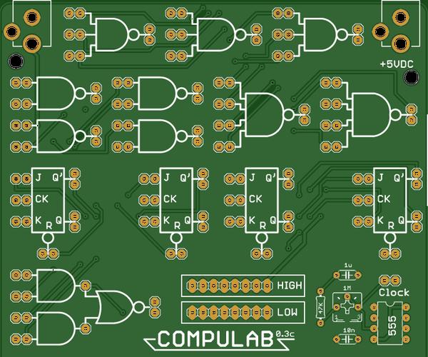 CompuLab - a DEC H500 Inspired Logic Trainer