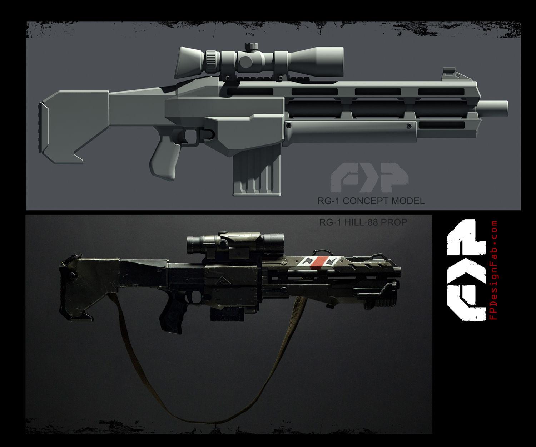 Rail Gun Weapon Prop Fabrication - Nerf Mod