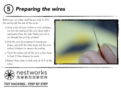 Preparing the Wires