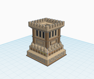 Castle Planter (with Tinkercad Code Blocks)