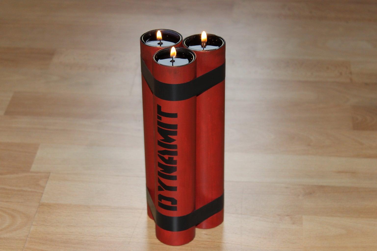 Dynamite Candle Holder