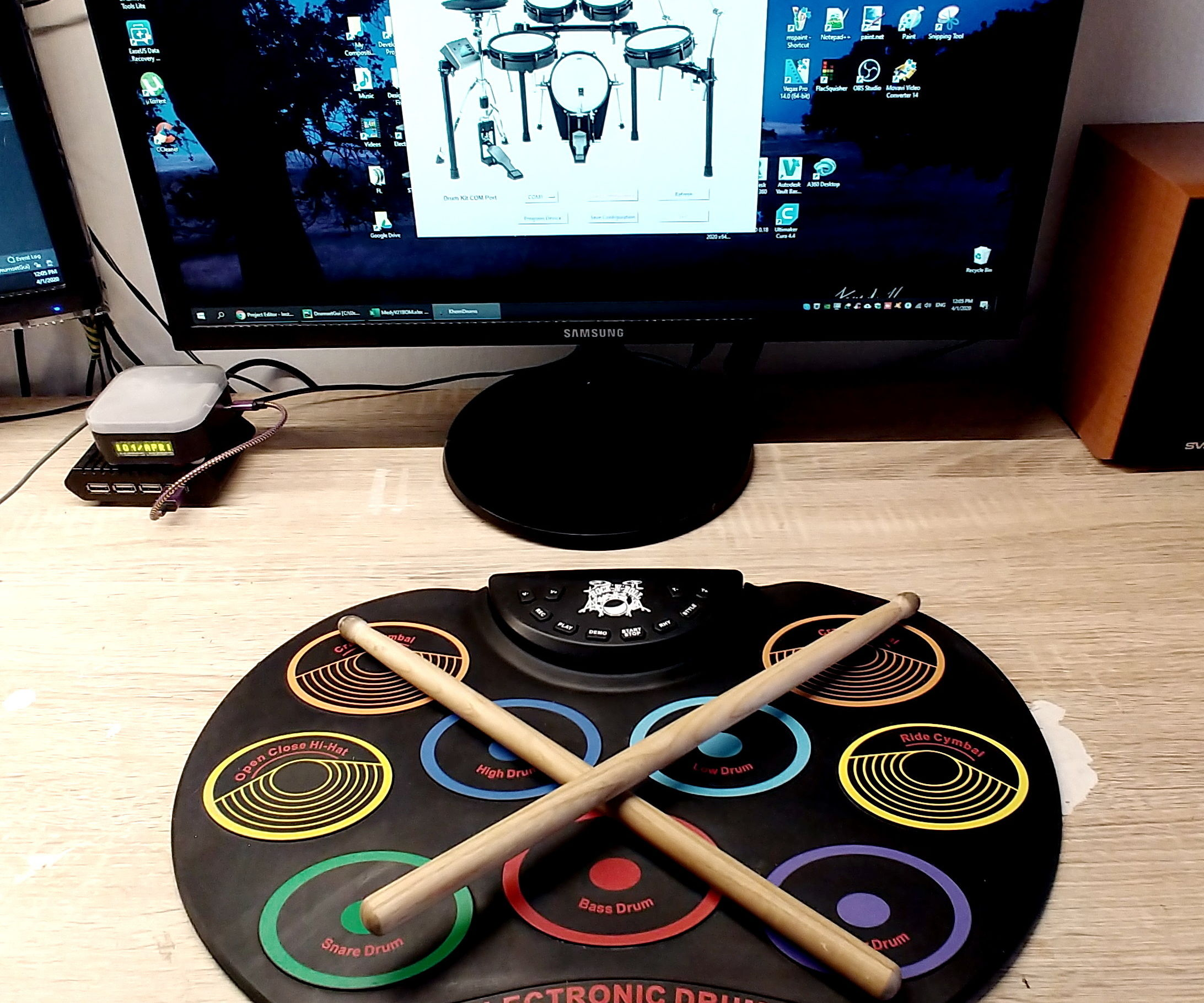 MIDI Drum Kit on Python and Arduino