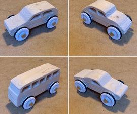 简单的木制经典汽车。