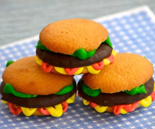 Simple and Sweet Burger Cookies