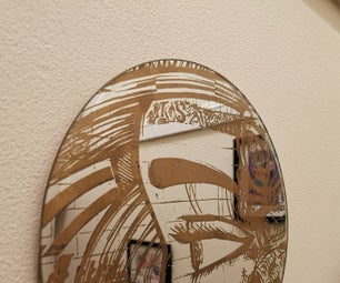 Paint Filling Laser Engraved Mirrors (for Art or Pleasure)