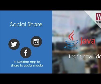 Desktop App to Share to Social Media | Geeky Way