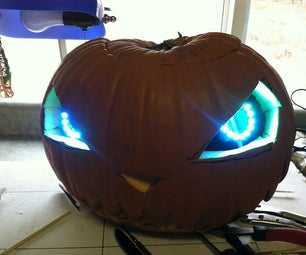 Carved Pumpkin With NeoPixel Eyes