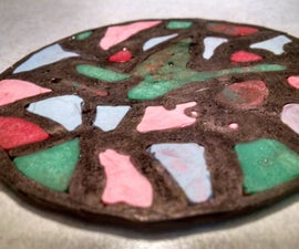 Hot Glue Stained Glass Cup Saucer