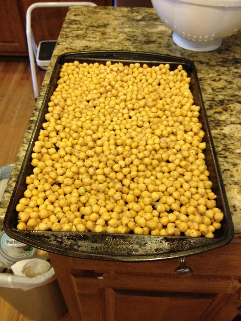 Spread Out Chickpeas Onto Baking Sheet