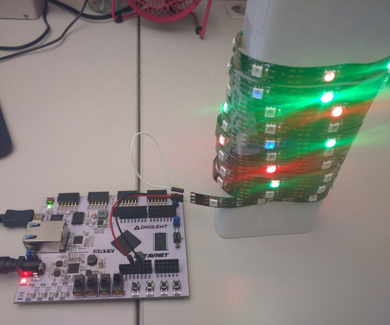 Addressable LEDs on the Arty FPGA board