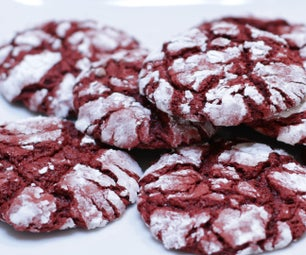 Red Velvet Cake Mix Crinkle Cookies