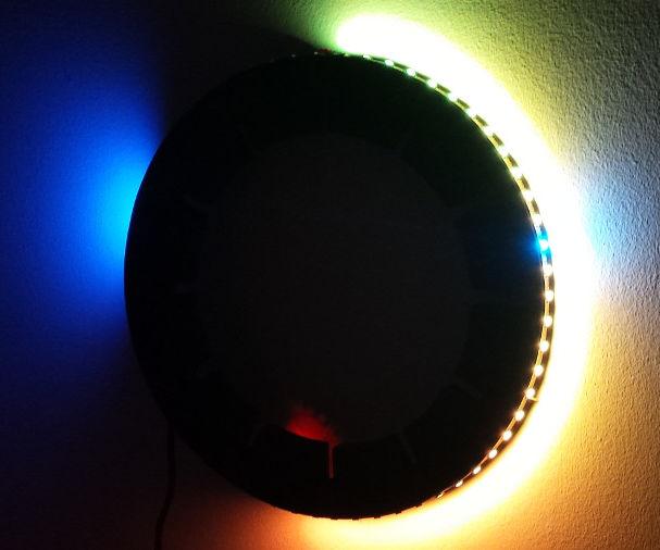 Glowing LED Wall Watch