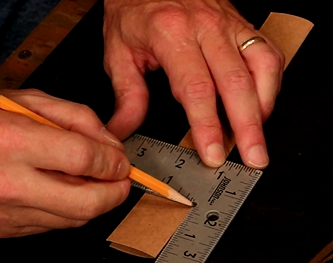 """Make 2 ½"""" Round and English Point Template"""