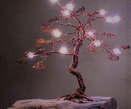 Lighted Wire Bonsai Tree