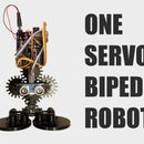 Cogsy the 1 Servo Omnidirectional Biped Robot for 15 $, 3D Printed, Arduino