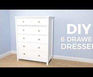 DIY 6 Drawer Dresser