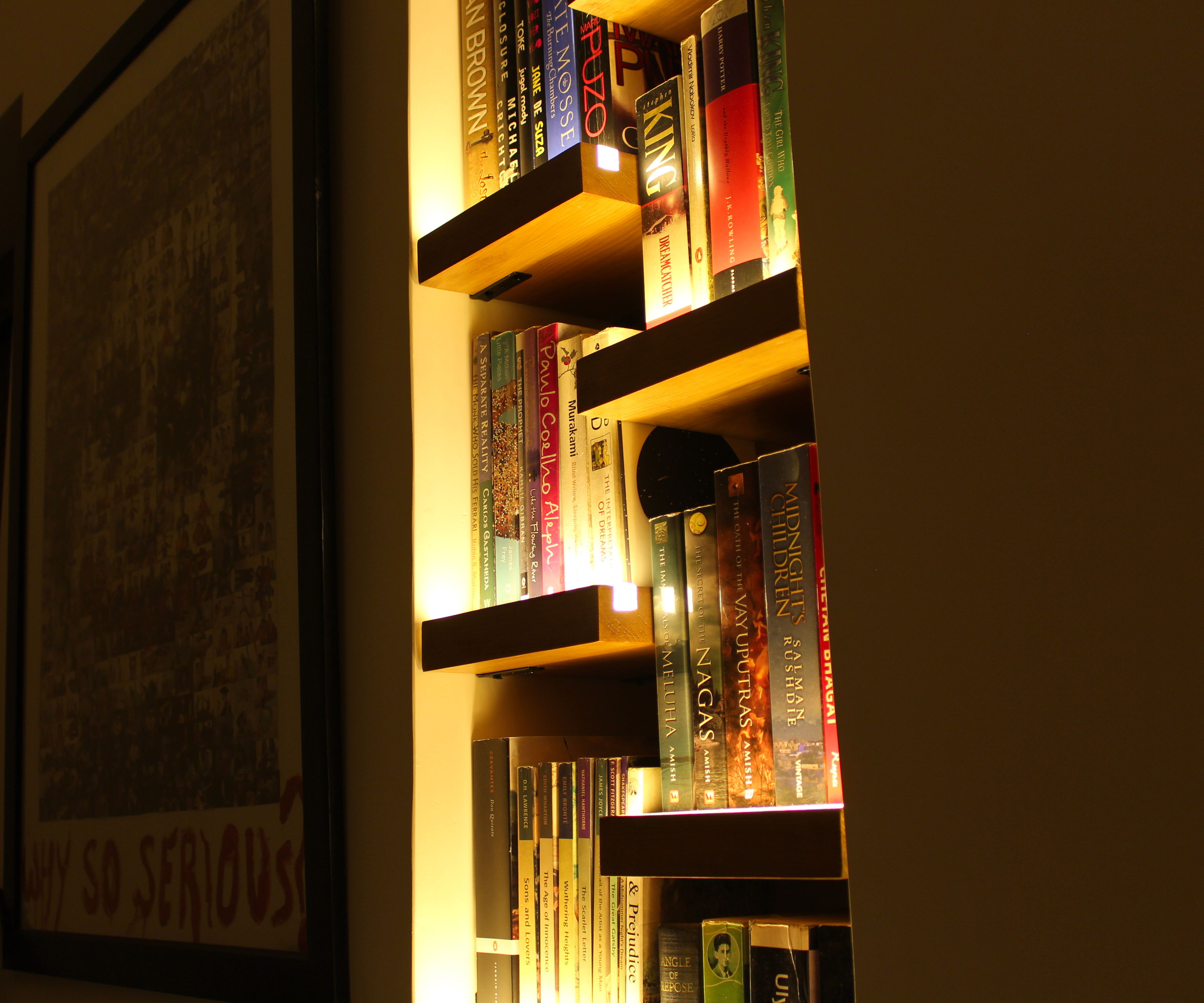 Alexa Controlled Bookshelf Lighting