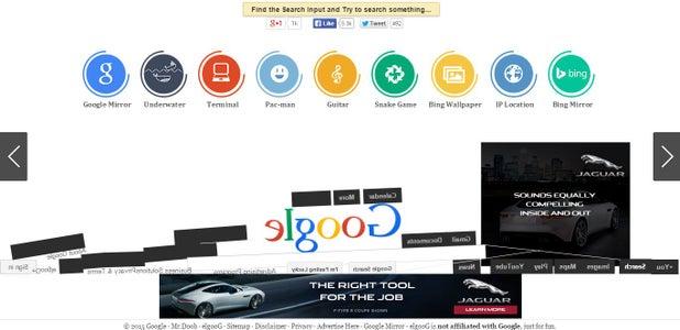 Google Gravity Interface