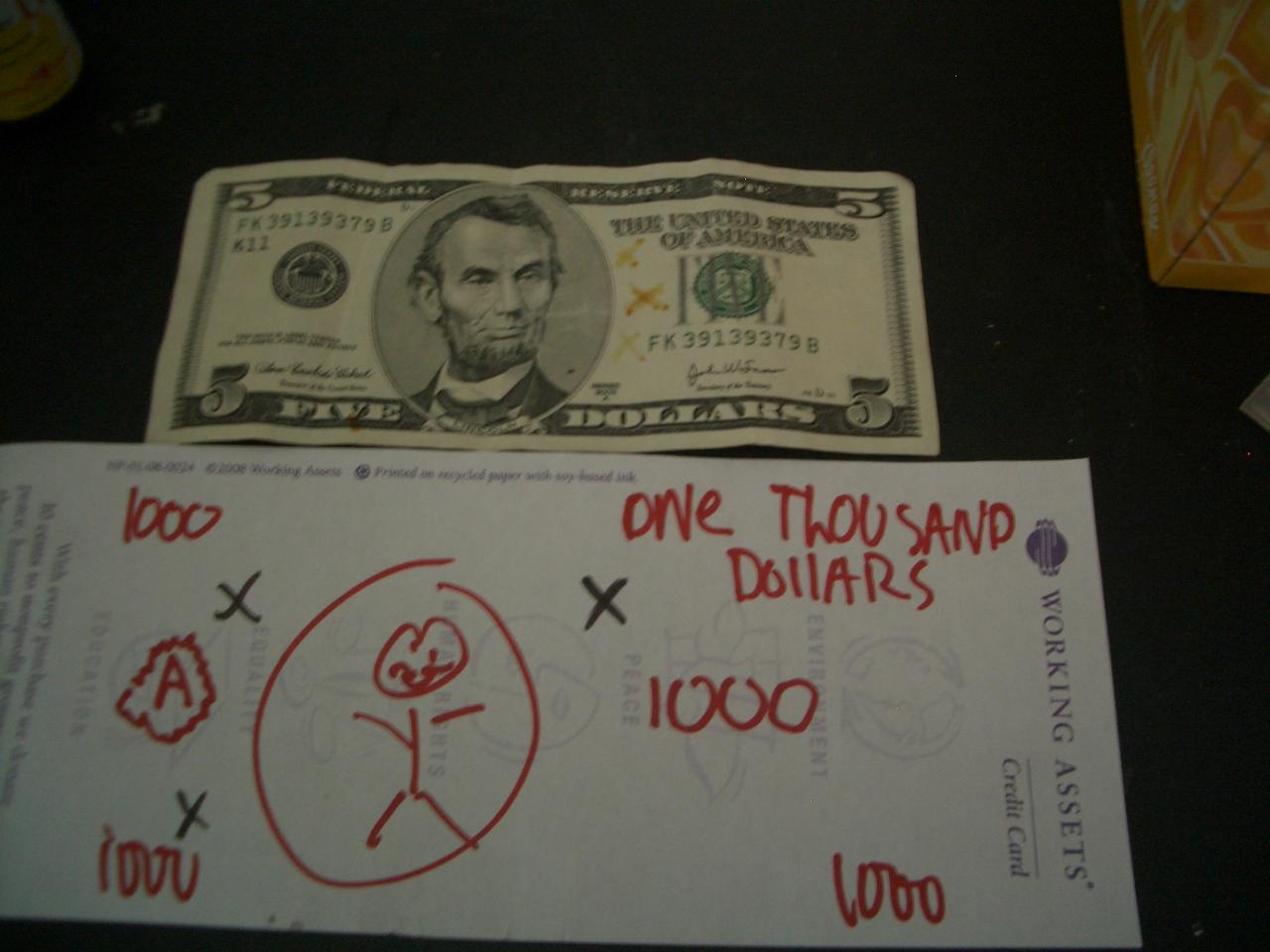 Counterfeit money pen