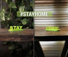 """3D Printed """"Stay Home"""" Anamorphic Text"""