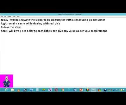 PLC Ladder Logic Diagram For Traffic Signal.