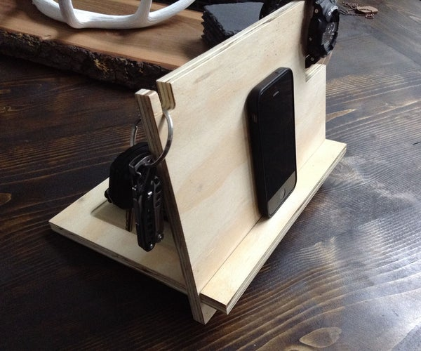 Plywood IPhone Stand - Dock