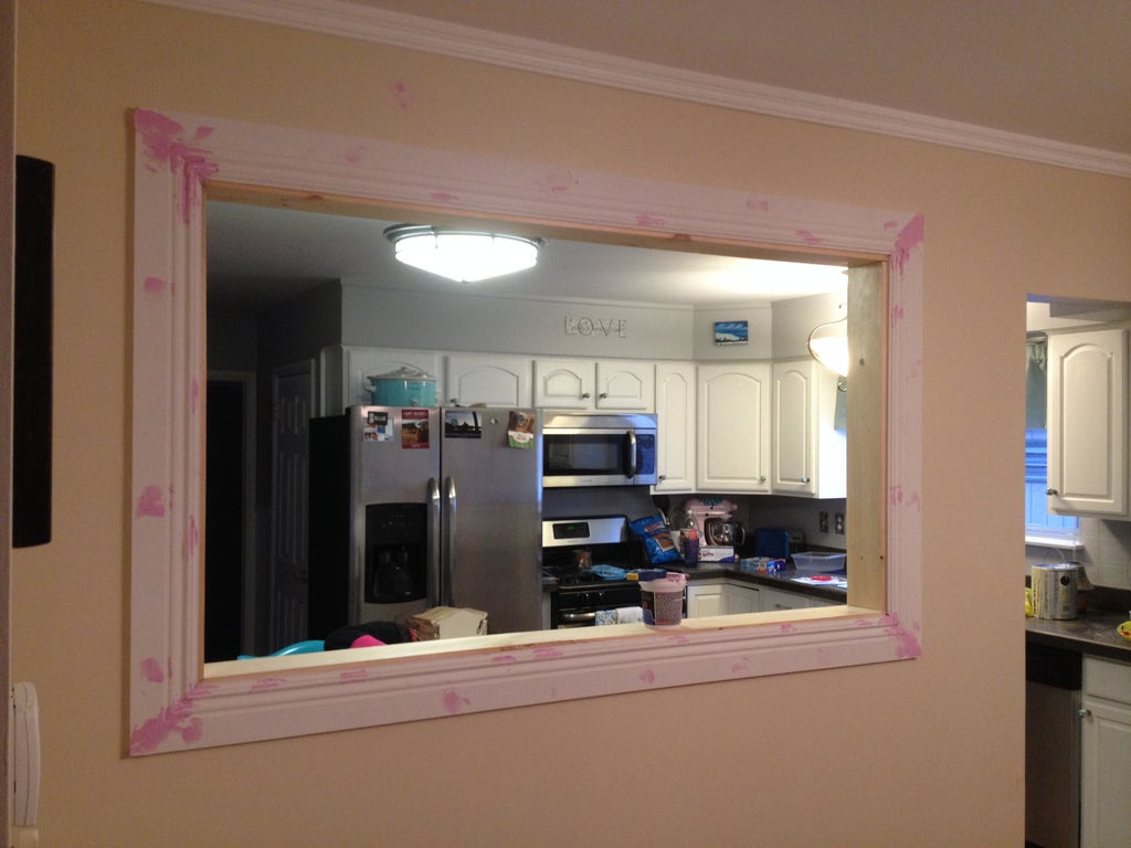 Kitchen Wall Pass Through 9 Steps With Pictures Instructables