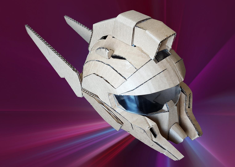 DIY Robot Cardboard Helmet
