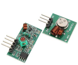 Arduino - 433mhz Wireless Transmitter & Receiver SWITCH Example FS1000A