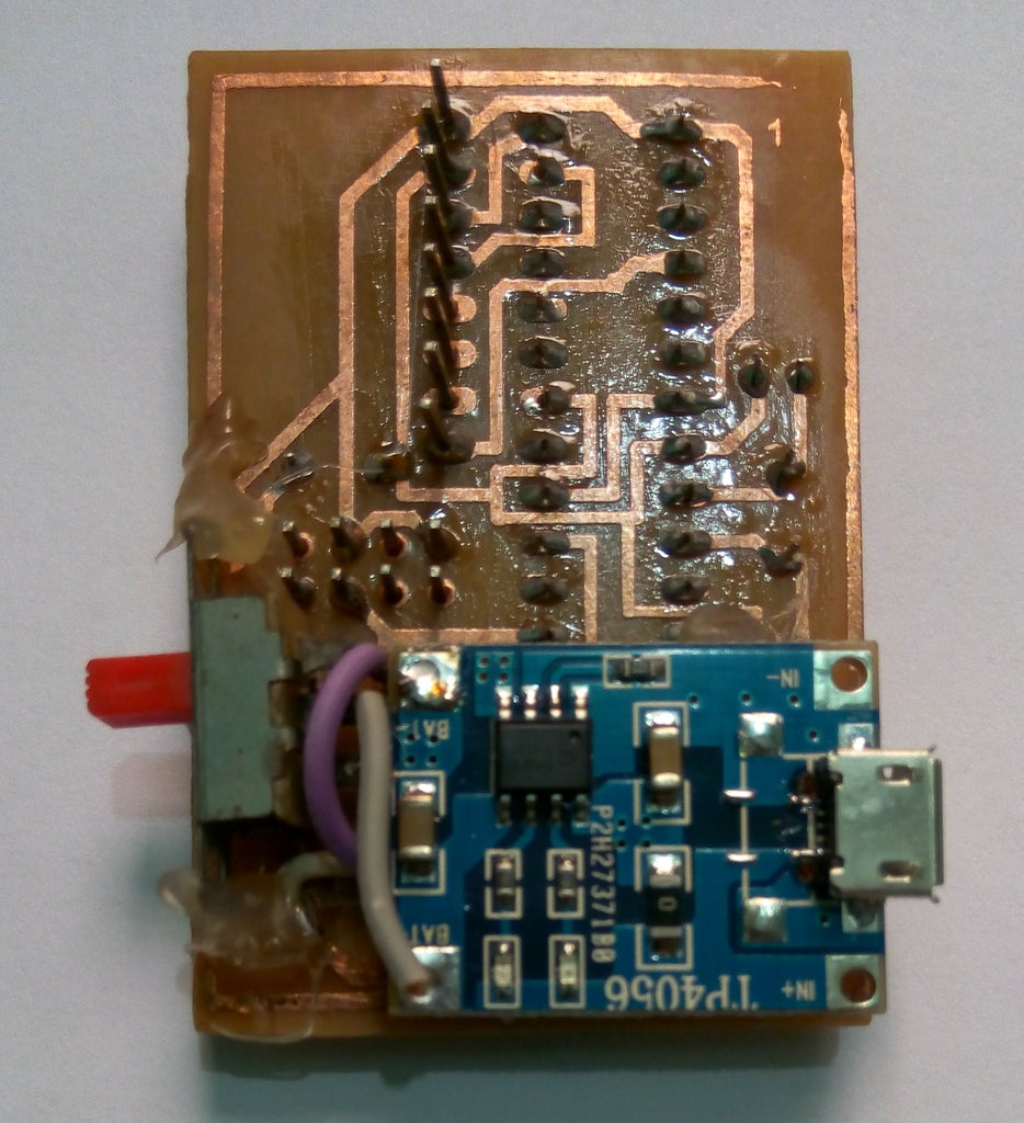 Connect & Attached Power Switch & Charging Circuit