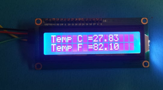 Display Temperature on LCD
