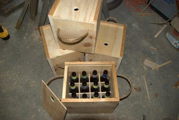 Wooden Beer Bottle Crate
