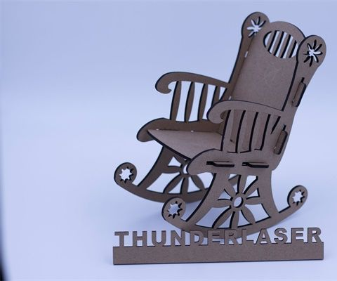 Laser MDF Model Cutting – Cutting a Lovely Chair
